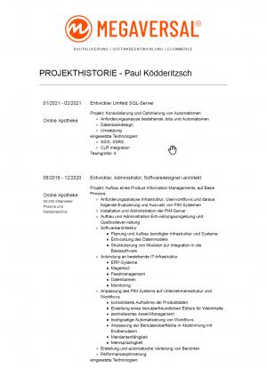 Projekthistorie-Paul-Ködderitzsch-Softwareentwickler-MEGAVERSAL